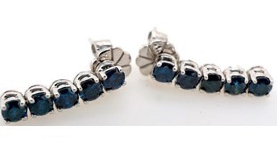 18K NATURAL BLUE DIAMOND EARRINGS