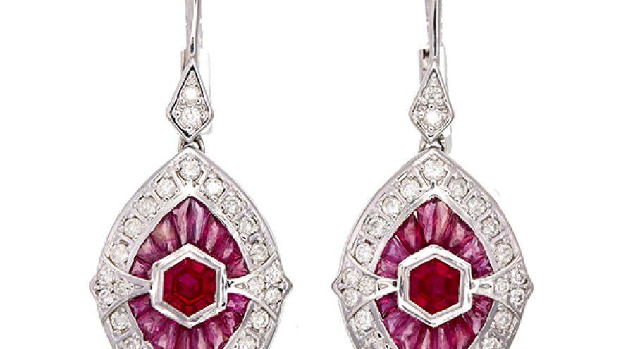 Ruby and Diamond Earring