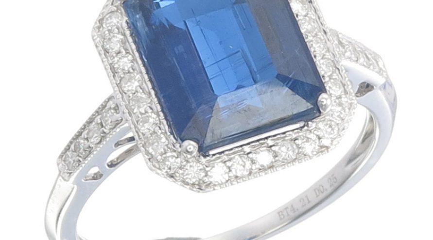 Kyanite and Diamond Ring