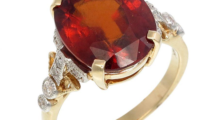 Hassonite and Diamond Ring