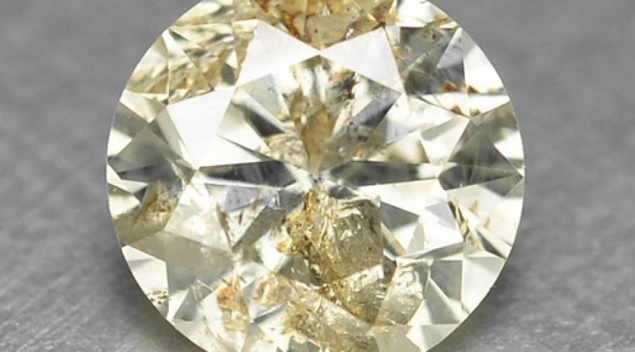 0.41 UNTREATED BROWNISH WHITE NATURAL LOOSE DIAMOND