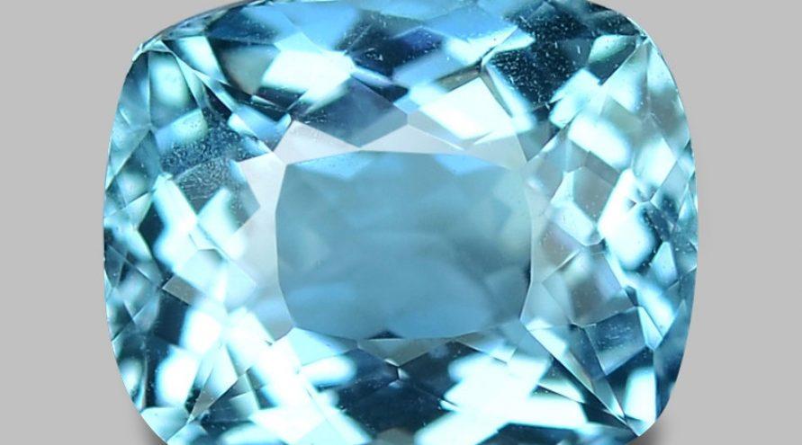 1.73 Carat Untreated Santa Maria Blue Color Natural Aquamarine Gemstone