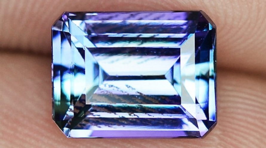 2.63cts VIOLET BLUE COLOR NATURAL TANZANITE  LOOSE GEMSTONE