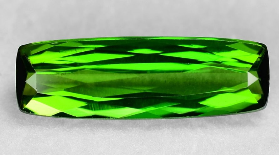 3.40 Cts UN HEATED GREEN COLOR NATURAL TOURMALINE LOOSE GEMSTONE