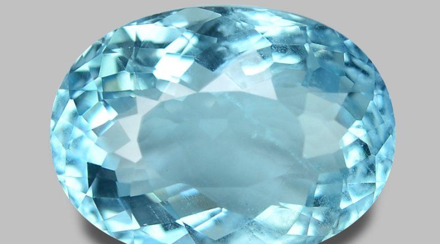 3.35 Carat Untreated Santa Maria Blue Color Natural Aquamarine Gemstone
