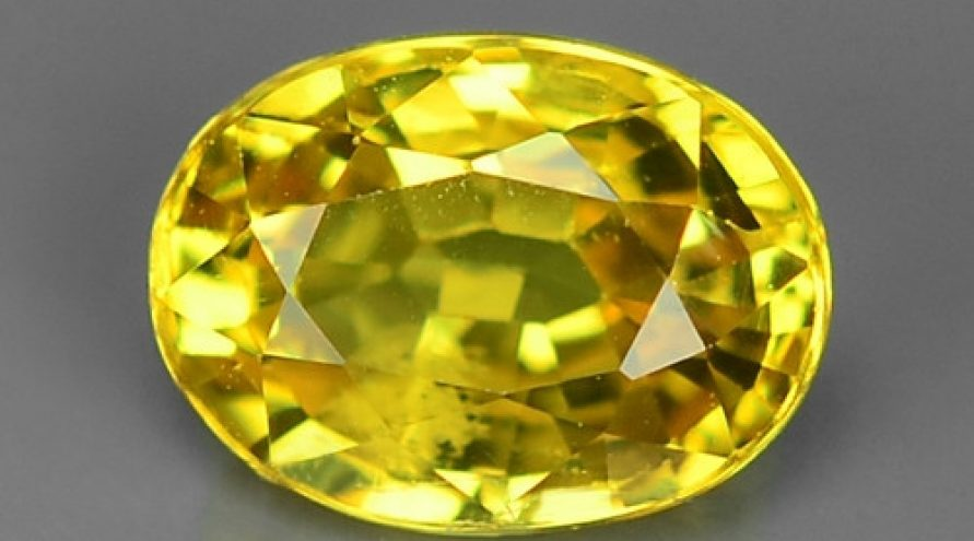 1.11 Carat Very Rare Yellow Color Sapphire Loose Gemstones