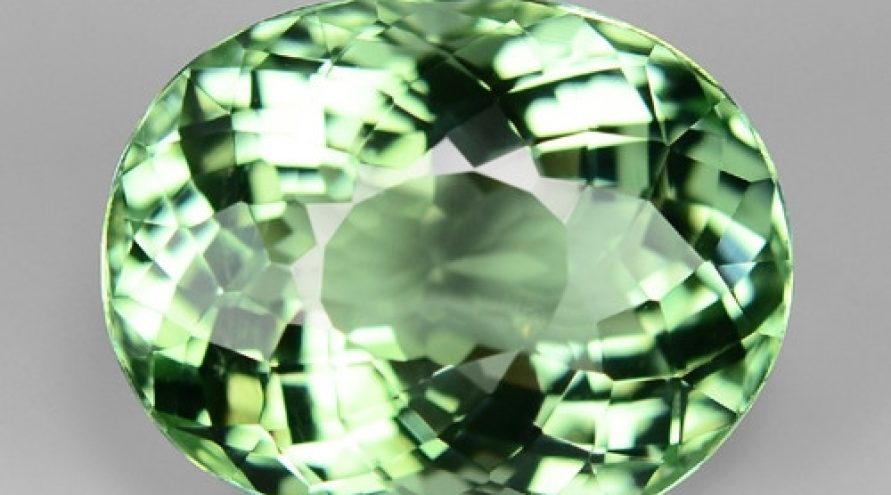 5.94 Cts RARE MINT GREEN COLOR NATURAL TOURMALINE GEMSTONE