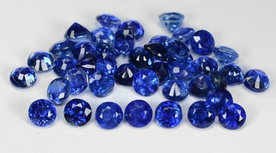 21.10 Cts 44 Pcs Fancy Royal Blue Color Natural Kyanite Gemstone Parcel