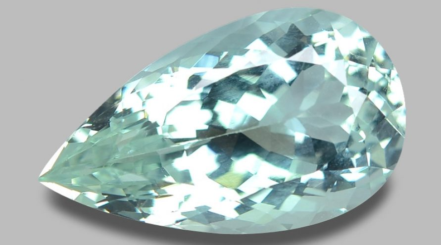 9.24 Cts Untreated Very Rare Blueish Green Color Natural Aquamarine Gemstone