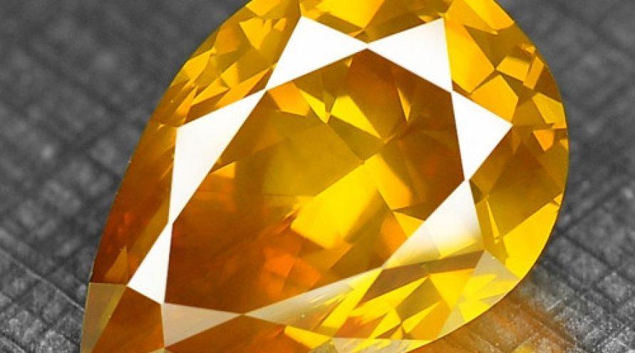 1.60 Cts RARE FANCY ORANGE YELLOW COLOR NATURAL DIAMOND