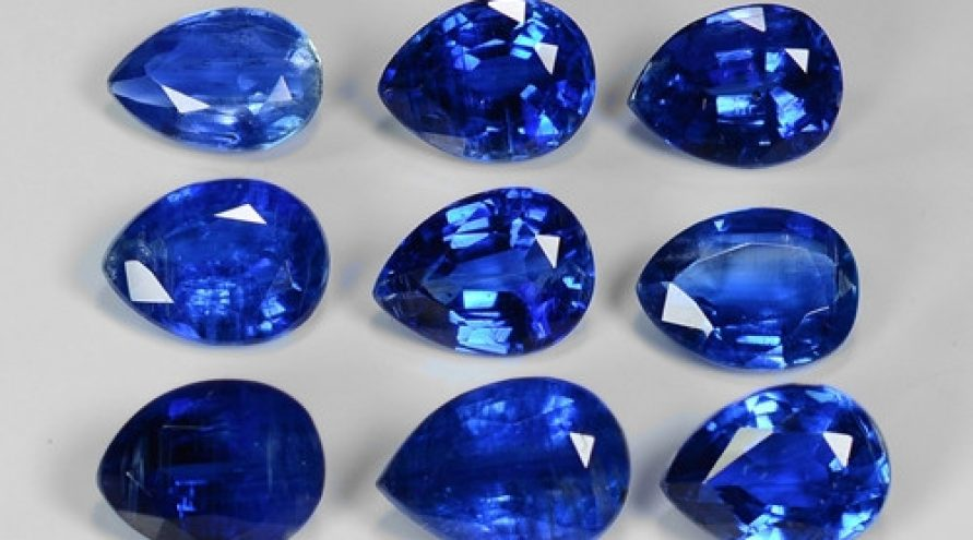 19.92 Cts 9 Pcs Fancy Royal Blue Color Natural Kyanite Gemstone Parcel
