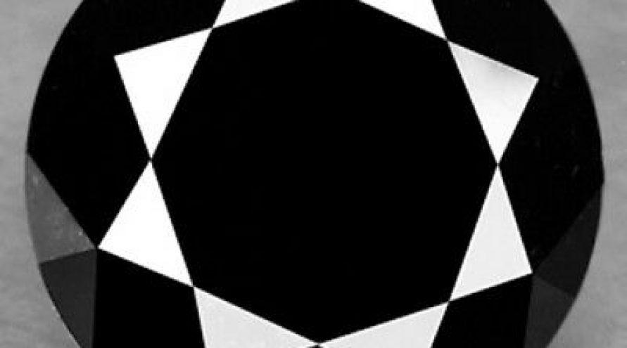 1.71 Cts EXCELLENT FANCY DEEP NATURAL JET BLACK DIAMOND