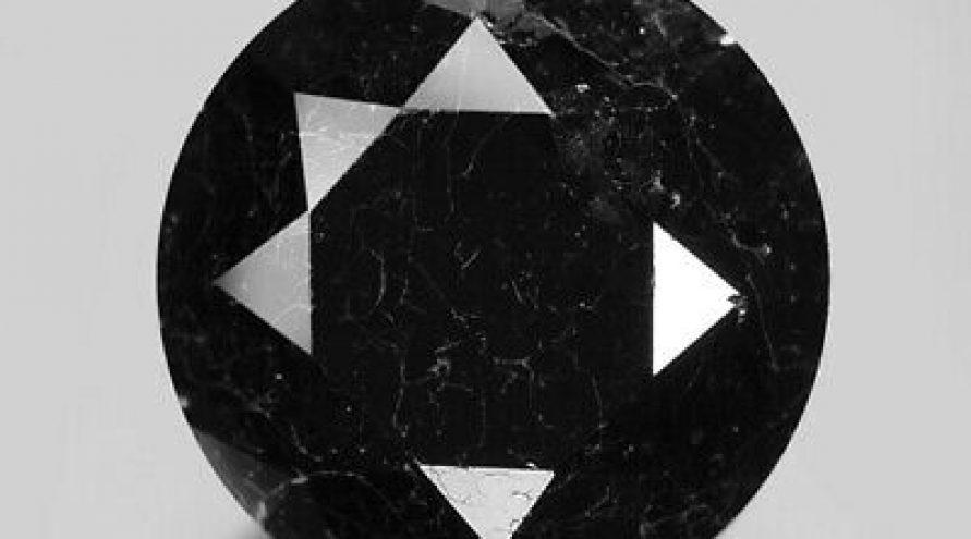 2.71 Cts EXCELLENT RARE FANCY DEEP NATURAL JET BLACK DIAMOND