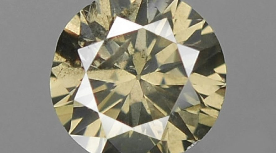 0.15 UNTREATED FANCY DEEP YELLOWISH GREY NATURAL LOOSE DIAMOND