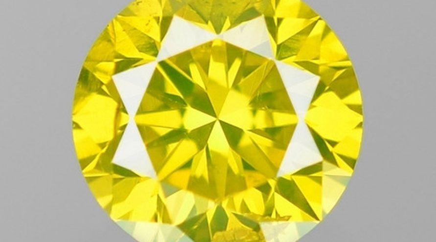 0.17 Cts SPARKLING RARE FANCY VIVID YELLOW NATURAL LOOSE DIAMOND