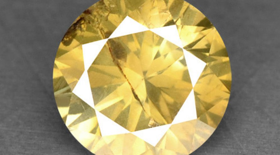 0.31 UNTREATED FANCY YELLOW NATURAL LOOSE DIAMOND