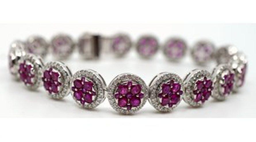 Natural Ruby and Diamond Bracelets