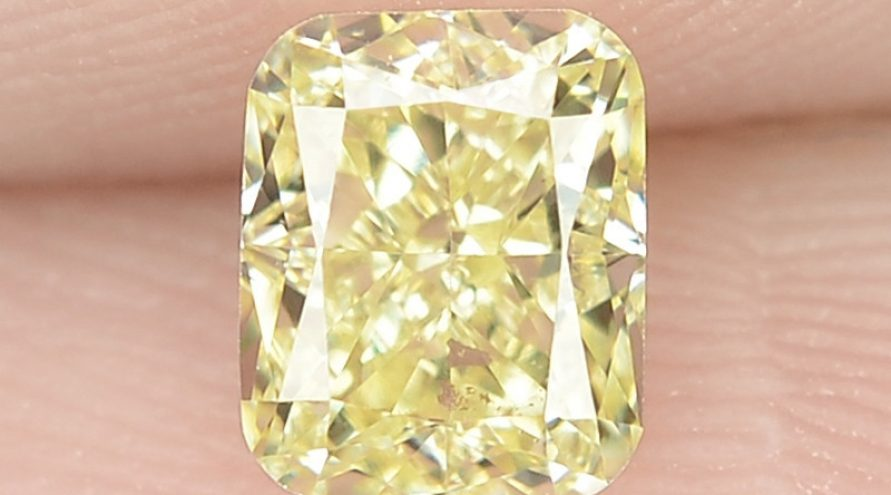 0.46 cts Untreated Natural Fancy Yellow Color Loose Diamond- VS1