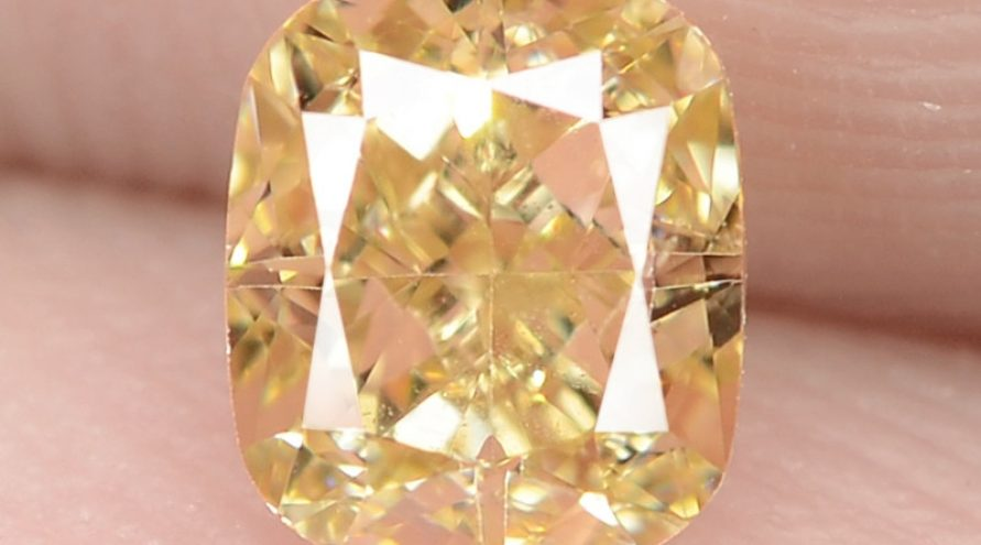 0.51 Carat Untreated Natural Fancy Intense Yellow Color Diamond VS1