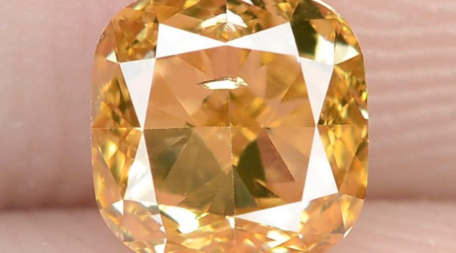 0.51 Carat Untreated Natural Fancy Intense Orange Color Diamond VS1