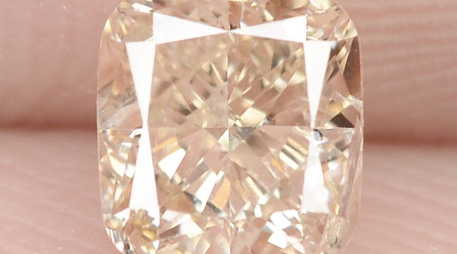 0.59 Carat Untreated Natural Fancy Pinkish Brown Color Diamond