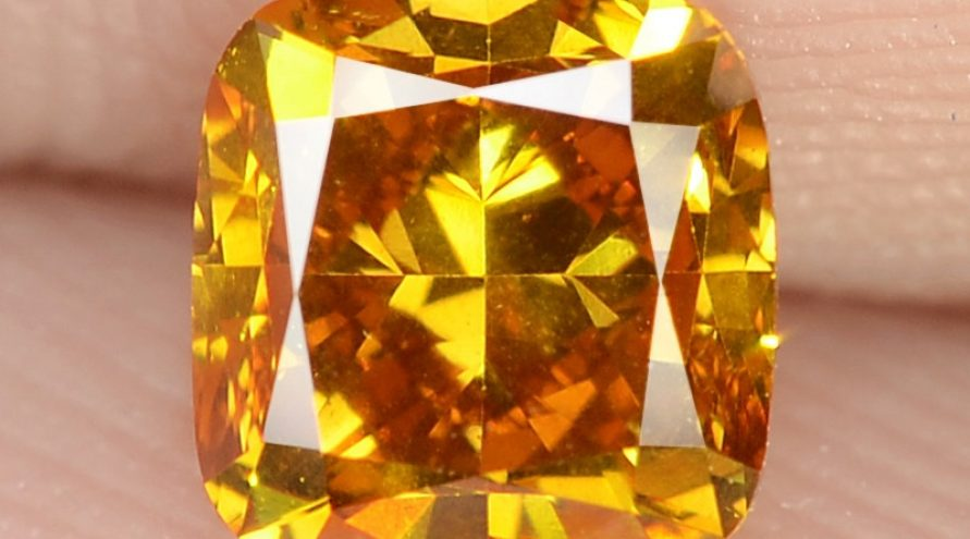 0.78 Carat Untreated Natural Fancy Vivid Orange Color Gemstone VS1