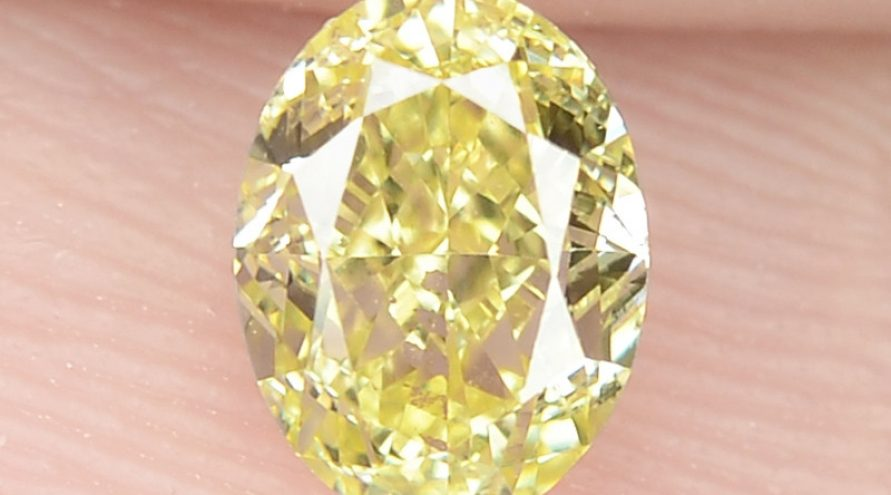 0.46 cts Untreated Natural Fancy Intense Yellow Color Loose Diamond- VS1