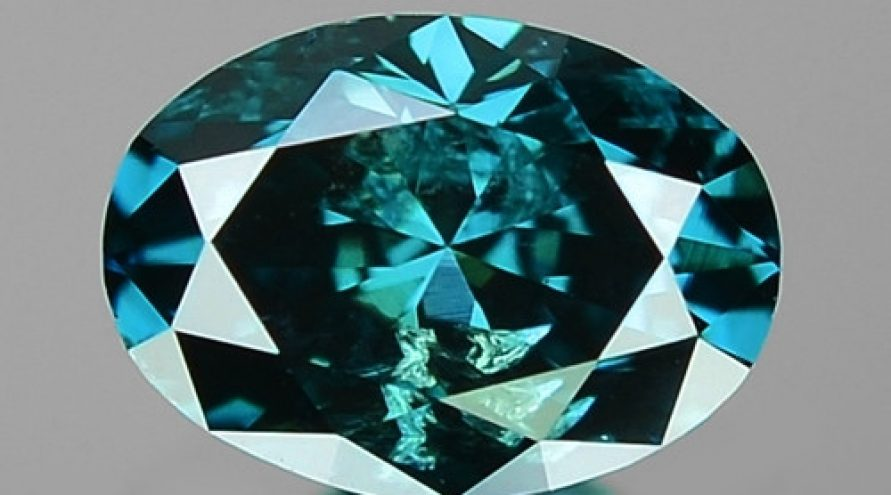 0.40 Cts Sparkling Very Rare Fancy Blue Color Natural Diamond