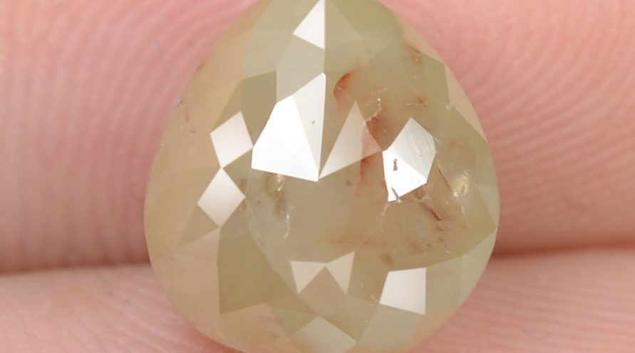 3.36 Cts UNTREATED FANCY YELLOWISH GRAY COLOR NATURAL LOOSE DIAMOND