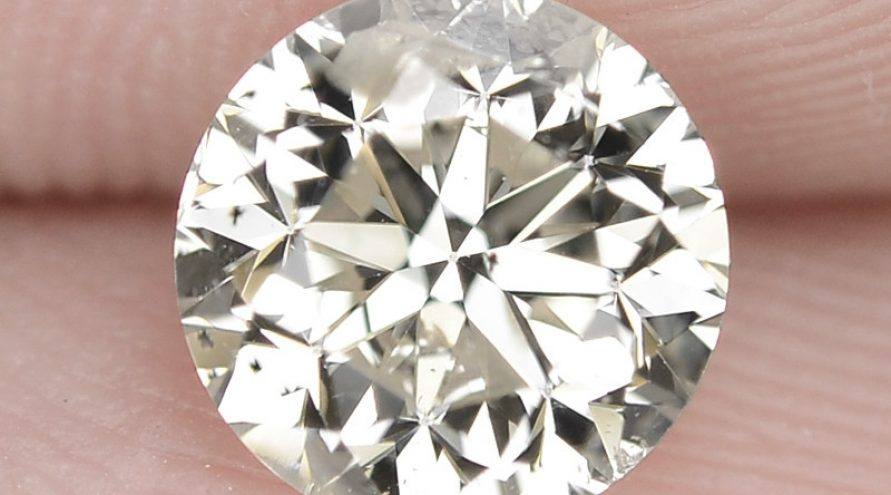 """1.01 Cts Excellent Sparkling Untreated Natural White """" K """" Color Loose Diamond"""