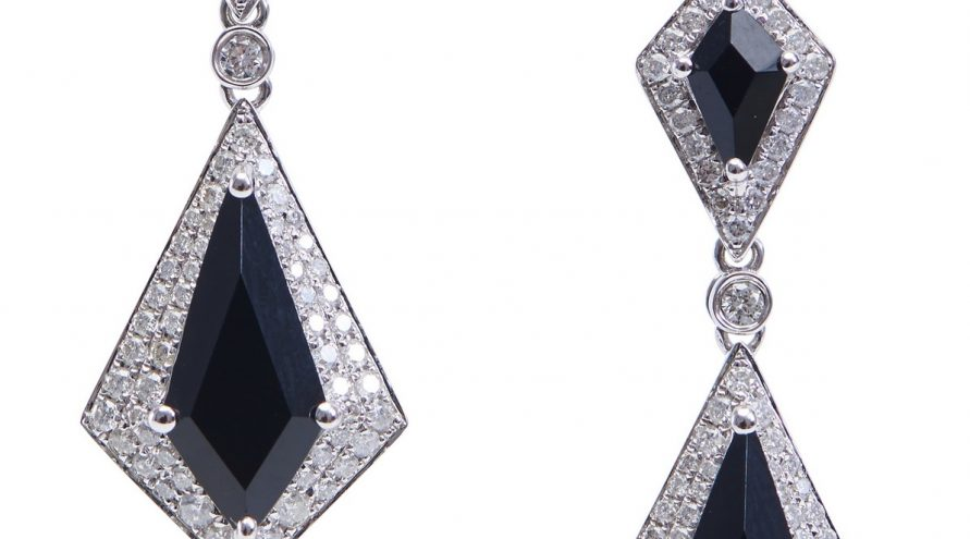 Onxy and Diamond Fancy Titanic Earring