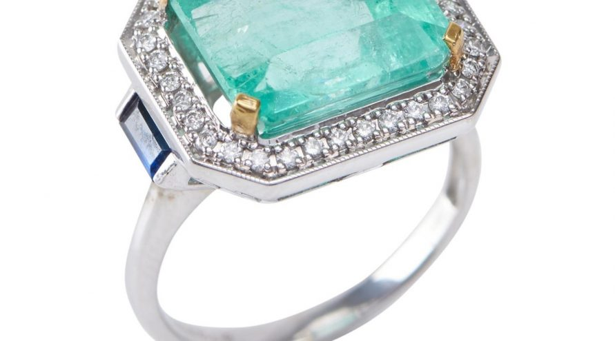 Emerald and Diamond Fancy Ring