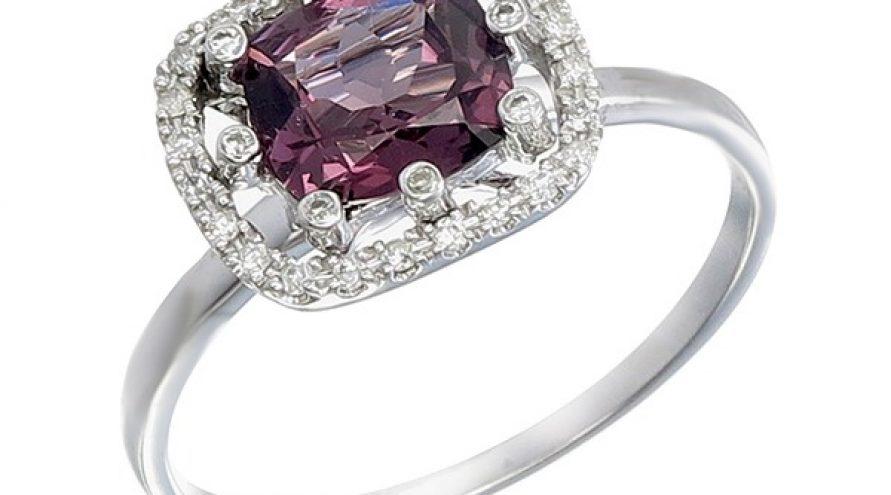 Spinal Diamond 9K White Gold Ring