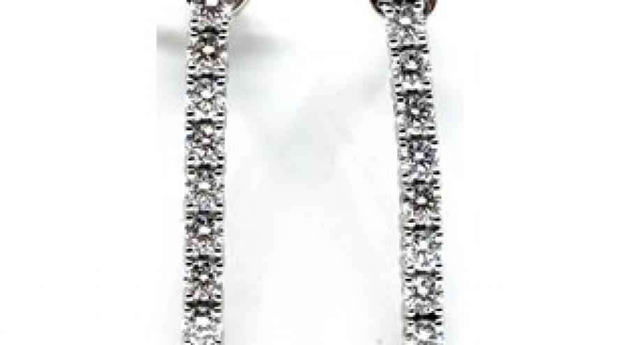 18K WHITE GOLD WHITE DIAMOND EARRINGS