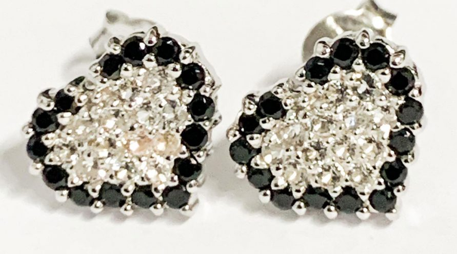 Silver Earring w/Black Spinal