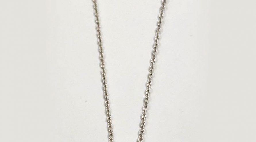 Silver Necklace w/BLUE SAPPHIR