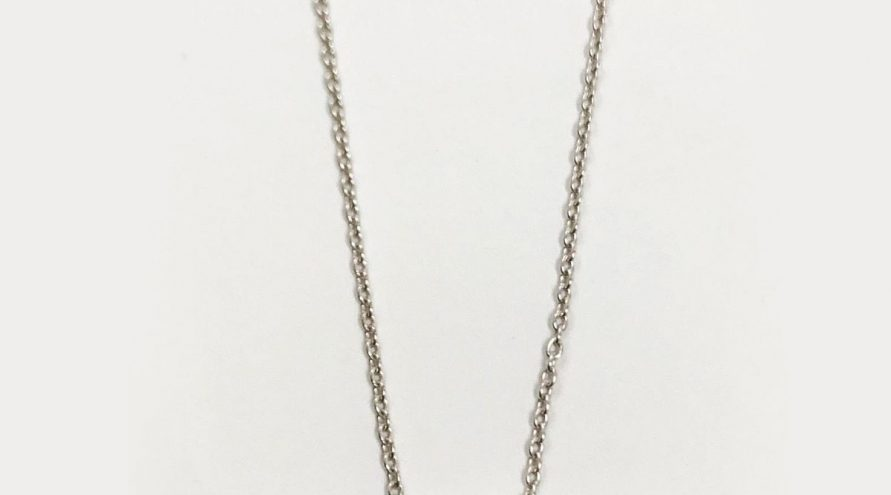 Silver Necklace w/CITRINE